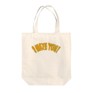 I HATE YOU Tote bags