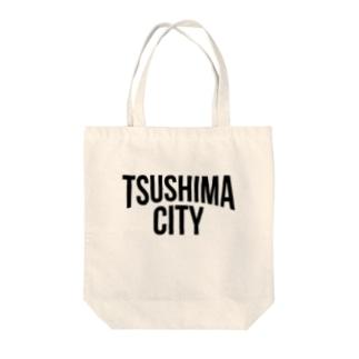 TSUSHIMA CITY Tote bags