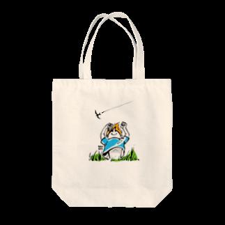 ウチダヒロコ online storeの夏の子 Tote bags