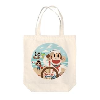 マリン・ソックモンキー Tote bags