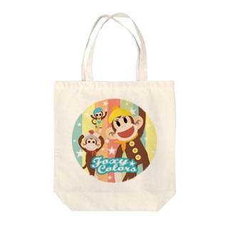 ソックモンキー・レトロポップ Tote bags