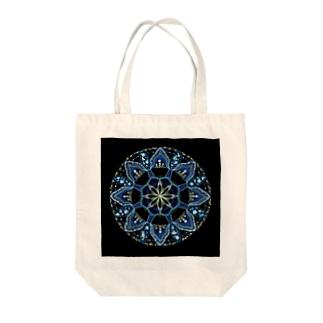 薄氷−点描曼荼羅 Tote bags