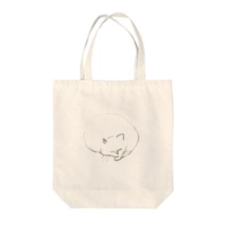 ふくよかなねこバック Tote bags
