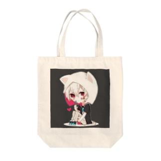 ねこみみ Tote bags