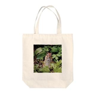 【にこらび】こんにちはエゾシマリス0130 Tote bags