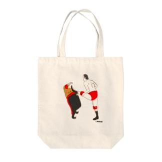 味のプロレス 王道編 Tote bags
