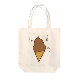 チョコソフト Tote bags