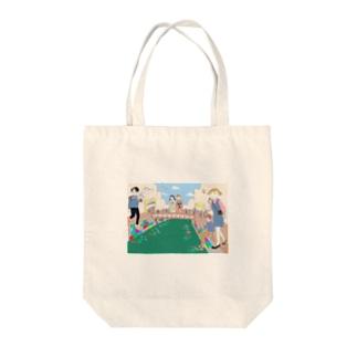 UNNYA × 宿とアンティークキモノ「長崎かがみや」 Tote bags