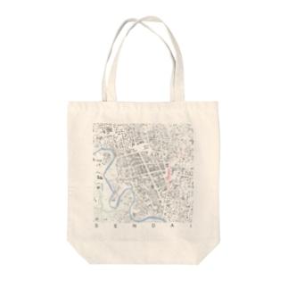 シティ・センダイ Tote bags