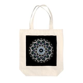 カレイドスコープ−点描曼荼羅 Tote bags