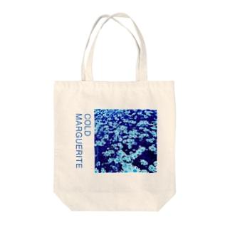 冷たいマーガレット Tote bags