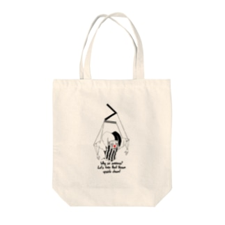 MARIONETTE with RED NOSE Tote bags