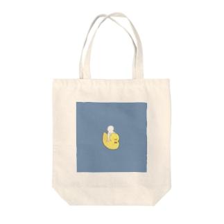 ひよ子 青 Tote bags