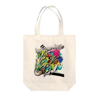 画家エリミミガエル(緑4) Tote bags