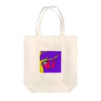 sloth Tote bags