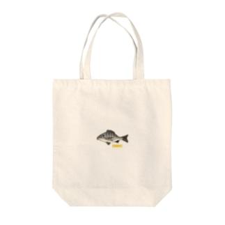 チヌくん(クロダイはん) Tote bags