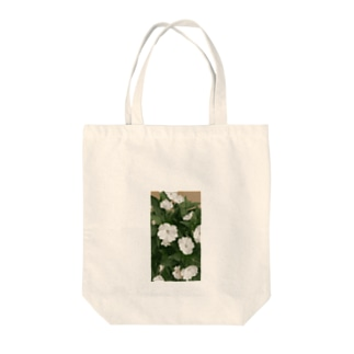 Whiteflower Tote bags