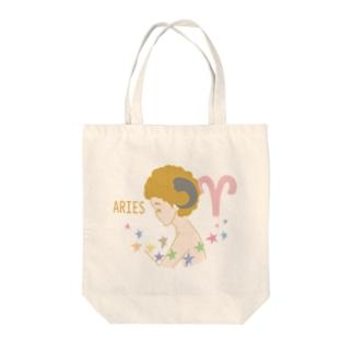 【星座シリーズ】牡羊座Aries Tote bags