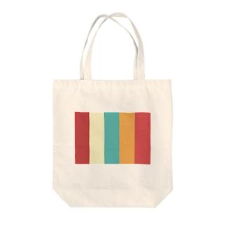 カラー Tote bags