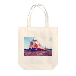 電車雷鳥 Train mania Tote bags