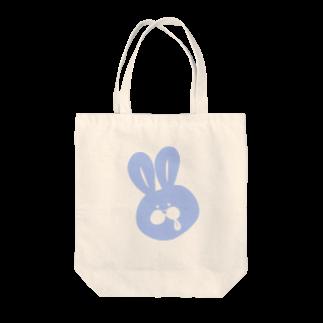 10円のうさぎのうさペロ【ブルー】 Tote bags