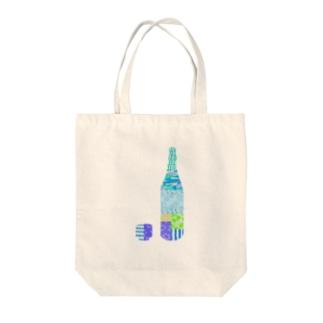 一升瓶とおちょこ パッチワーク Tote bags