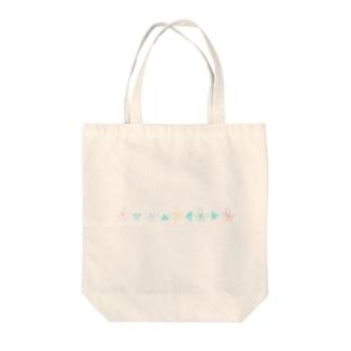 シンプルハナサンカク Tote bags