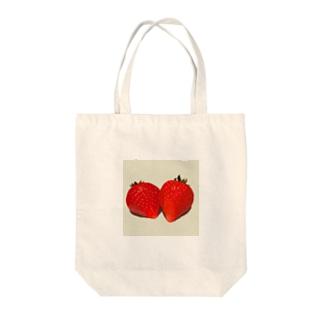 赤いイチゴ Tote bags