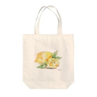 フレッシュレモン Tote bags