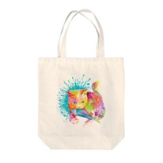 ネコ_cat.2_watercolor Tote bags