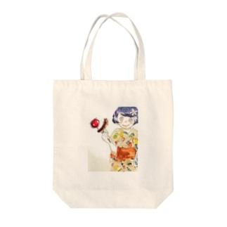 夏祭りの女の子 Tote bags