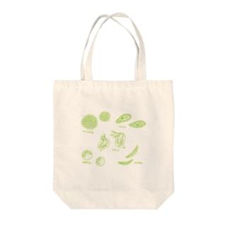小さな生きもの Tote bags