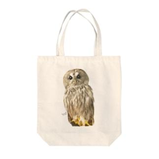 モリフクロウ Tote bags