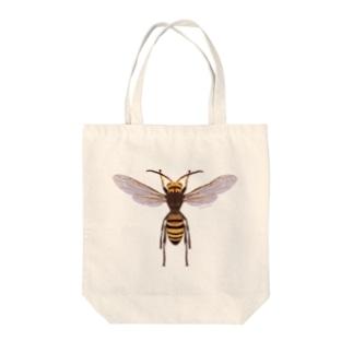 ヒメスズメバチ♂ Tote bags