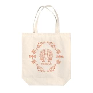 krakatuk吉祥鳥獣蟲紋 (ナチュラル) Tote bags
