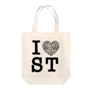 SHOP W SUZURI店のI ♥ Saba Tora トートバッグ Tote bags