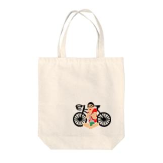 HIKE_BIKE Tote bags