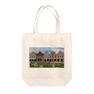 チェコ テルチの街並み Tote bags