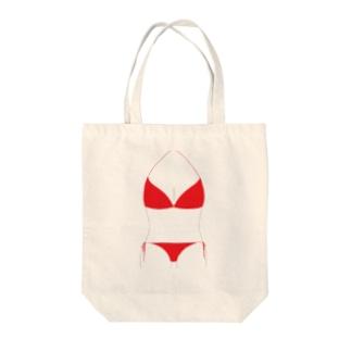 ビキニ Tote bags