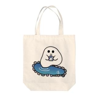 石ころポユ君ーデュモルチェライトインクォーツ版 Tote bags