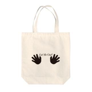 LET ME OUT Tote bags