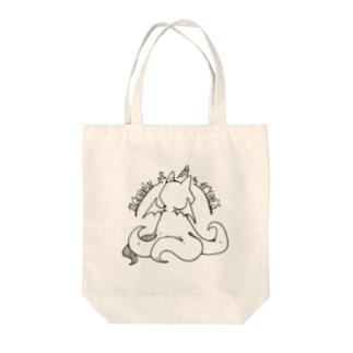 ちょぼろうSHOPの冒涜的な猫ルフ(背中色なし) Tote bags