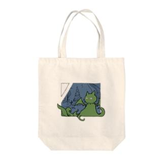 冒涜的な猫ルフ(色付き) Tote bags