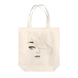 sidelong glance♡ Tote bags