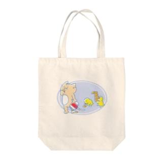 Cat food time bag Tote bags
