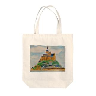 Mont Saint-Michel Tote bags