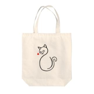 愛に飢えた猫 Tote bags