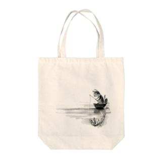 釣り猫 Tote bags
