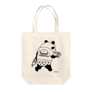 職質パンダ Tote bags