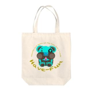 ベアHF-Tチョコミント1 Tote bags